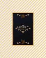 luxury frame with victorian style in golden stripes background vector