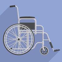 Flat Veteran Disabled Hospital Wheelchair Design Cartoon Style vector
