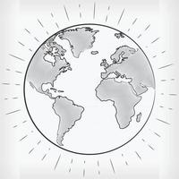 Doodle Earth World Hand Drawn Sketch Vector Illustration Drawing