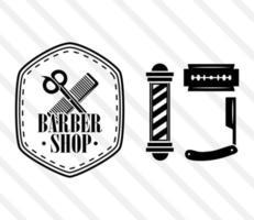 iconos de peluquería vector