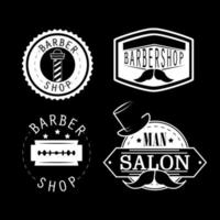 peluquería vintage vector
