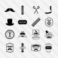 conjunto de iconos de peluquería vector