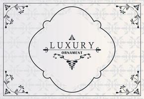 luxury frame with victorian style in gray background vector