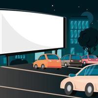 película de pantalla al aire libre vector
