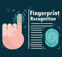 biometric fingerprint recognition vector