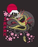 classical dragon japan vector