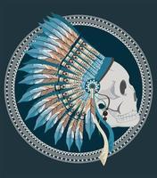 native skull profile vector