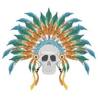 front skull indian vector