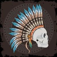 profile american native vector