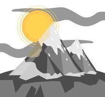 melting snow mountain vector