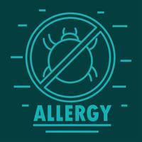 allergy mite sign vector