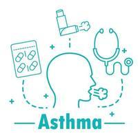 asma enfermedad respiratoria vector