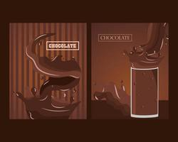 delicious chocolate splashes vector