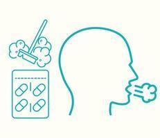 asthma allergy medicine vector