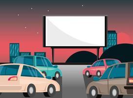 coches de película de cine vector