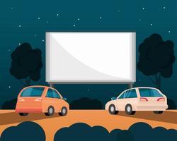 coche de película de cine vector
