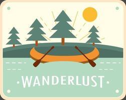 wanderlust rafting adventure vector