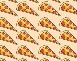 slices pizza food vector