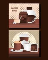 menú de la hora del café vector