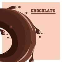 chocolate waving card vector
