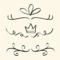 borders dividers decorative vector