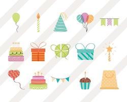 happy birthday collection vector