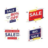 Sale badge and label collection Sale promotion Hot price Sale banner template vector