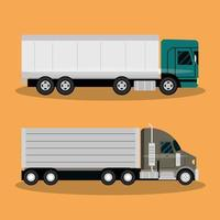 cargo truck transportation delivery fast delivery or logistic transport vector