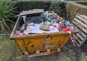 large rubbish skip photo