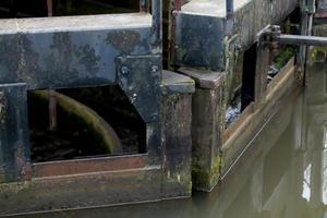 Heavy Wooden Lock Gates photo