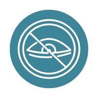 virus covid 19 pandemic eyes icon vector
