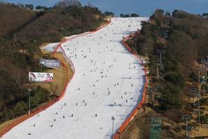 Gangwon-do, Korea 2016- Vivaldi Park ski resort photo