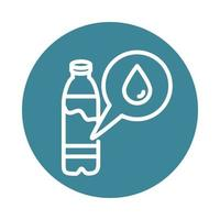 virus covid 19 pandemic water bottle block line style icon vector