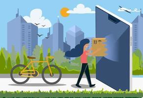 Shopping Online concept vector illustrator