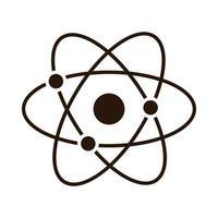 school education atom molecule science supply silhouette style icon vector