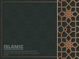 Dark Islamic background with golden mandala vector