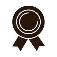 school education rosette award supply silhouette style icon vector