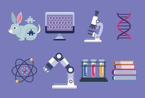 eight genetic testing items vector