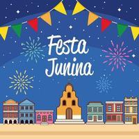 festa junina country vector