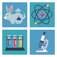 four genetic testing items vector