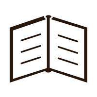 school education open book read supply silhouette style icon vector