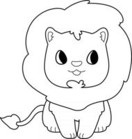 Lion Kids Coloring Page Great for Beginner Coloring Book vector