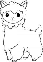 Llama Kids Coloring Page Great for Beginner Coloring Book vector