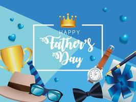 fathers day frame vector