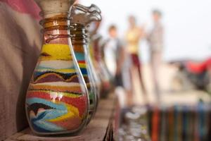 Sand bottles souvenirs photo