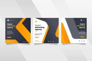 publicación en redes sociales de la agencia de marketing de negocios digitales vector