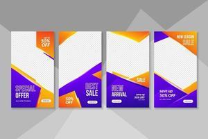 venta de banners y colección de publicaciones en redes sociales. vector