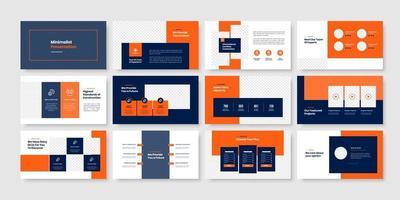 Construction minimal slides presentation template vector