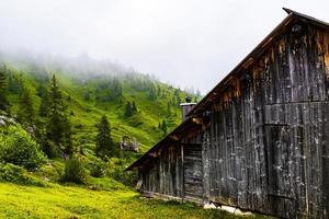 Barn and fog photo
