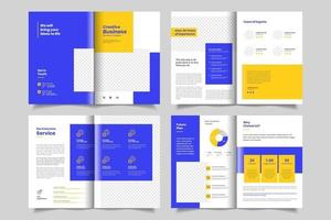 Minimal business brochure or booklet design template vector